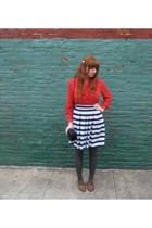 vintage boots - vintage skirt - vintage purse - vintage shoes