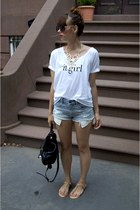 black Marc by Marc Jacobs bag - American Eagle shorts - black Aldo sunglasses