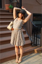 Urban Outfitters dress - black H&M hat - nude Charlotte Russe wedges - brown For
