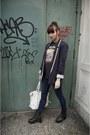 Navy-wallis-blazer-black-urban-outfitters-boots-carmar-jeans