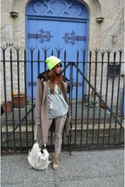 Elie Tahari jacket - Topman hat - Urban Expressions bag - Zara pants