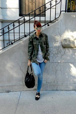 Old Navy jacket - black Jeffrey Campbell shoes - American Eagle jeans