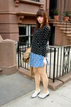 polka dots Zara shirt - heather gray Jeffrey Campbell shoes