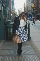light pink Alexander Wang bag - black Zara boots - free people hat