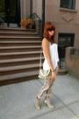 White-zara-shirt-tan-glitter-heel-h-m-boots-remi-emmy-bag-zara-pants