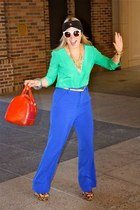 Assad Mounser necklace - Furla bag - Rory Beca blouse - Alice  Olivia pants
