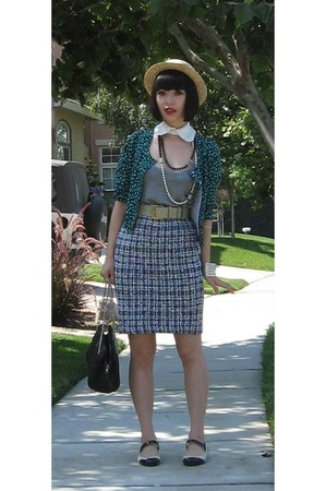 Chanel purse - jerkville accessories - St John Couture skirt - H&amp;M top
