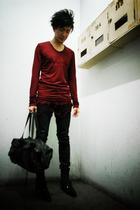 Julius top - april 77 jeans - dior homme boots - Julius accessories