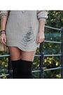 Beige-gina-tricot-sweater-beige-vintage-purse-black-din-sko-boots