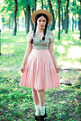 Shiffon-h-m-blouse-cotton-vintage-skirt
