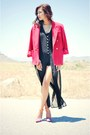 Black-forever-21-dress-red-red-comfy-norton-mcnaughton-blazer