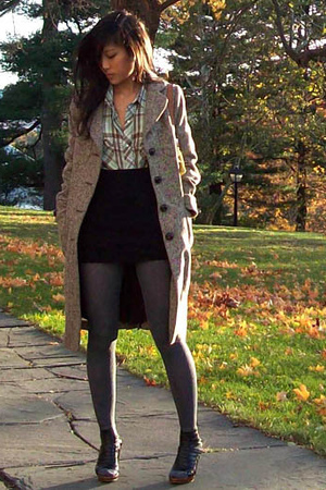 American Apparel skirt - banana republic coat - American Apparel socks - Jeffrey