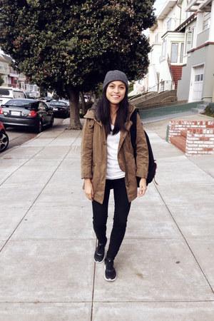 BDG jeans - Zara jacket - Herschel Supply Co bag - nike sneakers