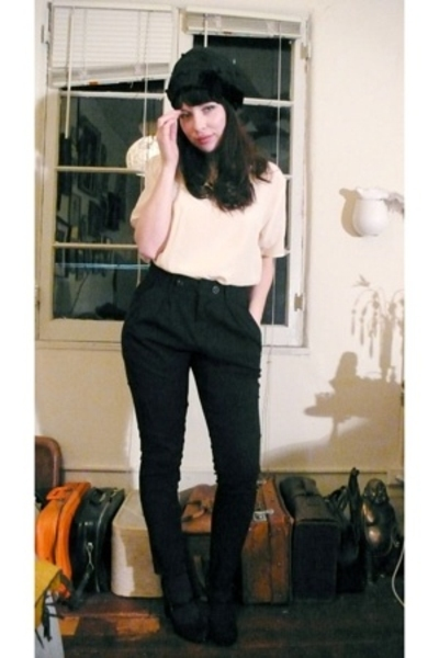 thrifted shirt - Zara pants - shoes - vintage hat