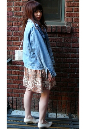 vintage jacket - vintage dress - vintage shoes - vintage purse