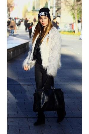 Choies hat - asos jacket - Zara pants