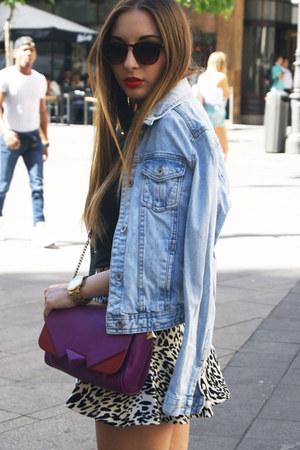 Zara jacket - H&M shirt - Zara bag - H&M glasses - Zara skirt
