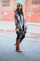 long cardigan Left on Houston cardigan - bow kate spade boots