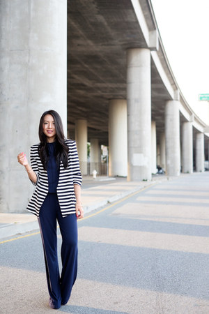 stripes Zara blazer - wide leg Tart jumper
