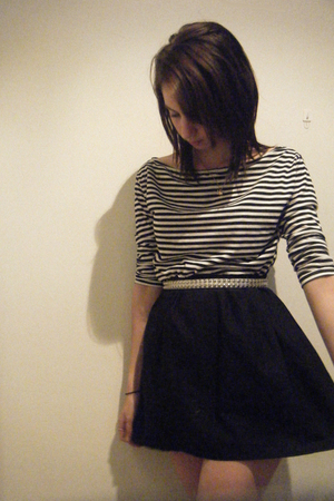 Self Made skirt - American Apparell dress - Rusty belt