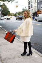 linen steven alan dress - vintage bag - Frye clogs - vintage cape