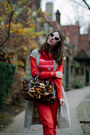 Red-h-m-pants-beige-banana-republic-dress-brown-leopard-print-brahmin-bag
