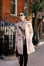 Brown-knit-shui-chen-new-york-scarf-beige-trench-gap-coat