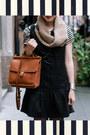 Black-dropwaist-free-people-dress-brown-knit-shui-chen-new-york-scarf