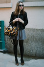 Navy-striped-free-people-dress-black-tweed-sugarlips-apparel-jacket