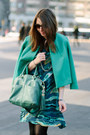 Gray-karen-london-bracelet-teal-kelly-wearstler-dress