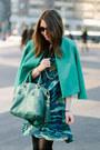 Gray-karen-london-bracelet-teal-kelly-wearstler-dress