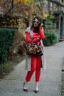 Red-h-m-pants-beige-banana-republic-dress-brown-leopard-print-brahmin-bag