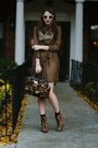Brown-animal-print-steve-madden-boots-brown-printed-kelly-wearstler-dress