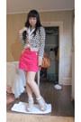 Tawny-landmee-bag-ivory-h-m-wedges-hot-pink-shocking-pink-h-m-skirt