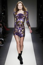 purple Balmain dress - gold Balmain dress - black Balmain boots - black Belt bel