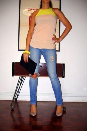 Mango heels - asos jeans - Meena bag - Zara top