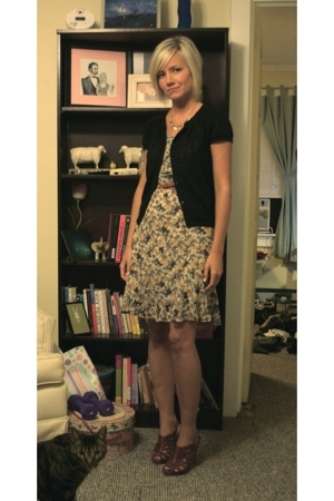 Old Navy sweater - Ann Taylor Loft dress - Dollhouse shoes