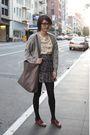 Gray-cardigan-skirt-sally-jane-vintage-blouse