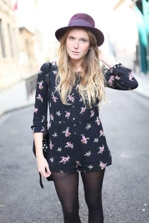 Urban Outfitters bodysuit - Zara hat