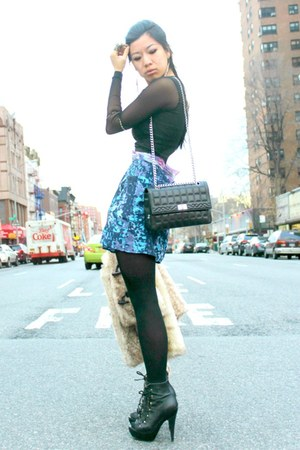 booties Steve Madden shoes - dress Love Culture dress - bag Chanel bag