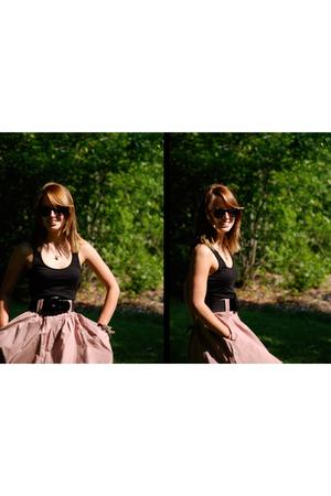 H&M skirt - H&M shirt - Fossil necklace - sunglasses