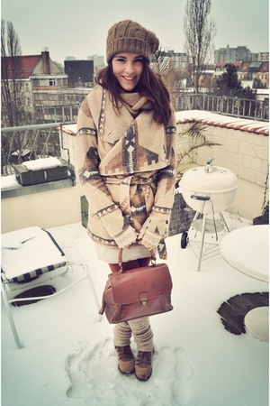 trekking boots görtz boots - H & M dress - Esprit jacket - vintage bag