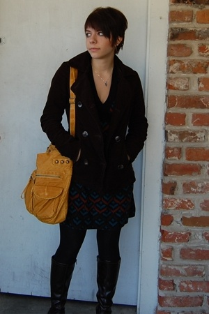 Billabong coat - Bloom dress - Target purse - Target tights - Rack Room boots
