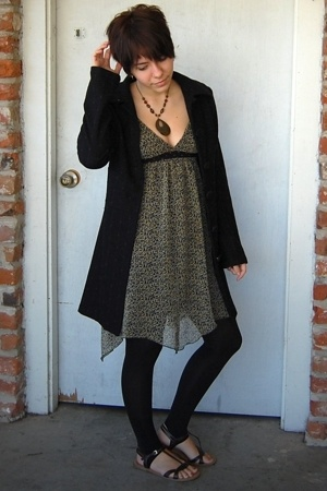 Dillards dress - Bloom coat - Target tights - Shoe-nami shoes - Body Shop neckla