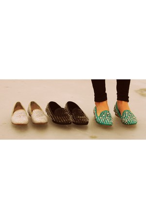 black spikes UNIF loafers - off white Steve Madden loafers