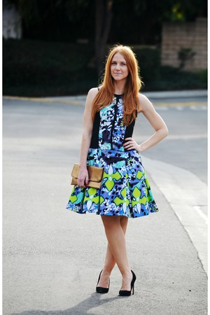 Peter Pilotto dress - black suede shoemint pumps