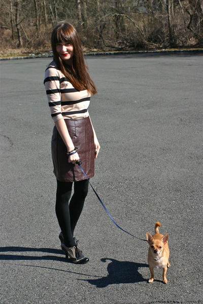 Forever 21 skirt - H&M dress - tights Target tights - Henri Bendel bracelet