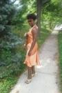 100-silk-peach-dream-dress-leather-heel-heels