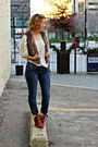 Tawny-nine-west-boots-navy-rock-republic-jeans-light-brown-fur-h-m-vest