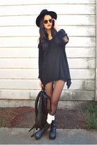black Style Nanda sweater - dark gray Jeffrey Campbell shoes
